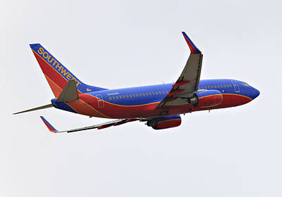 Airliners Photograph - Southwest Skies by Ricky Barnard