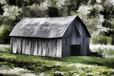 Southwest Wisconsin Barn Painted Print by Thomas Young