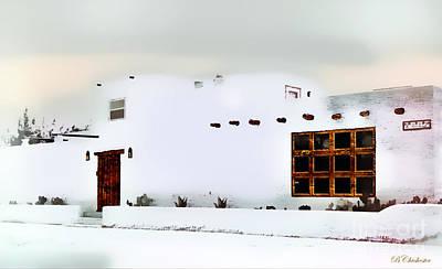 Mesilla Painting - Southwestern Pueblo  by Barbara Chichester