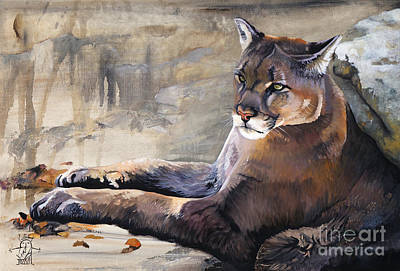 Puma Painting - Sovereign by J W Baker