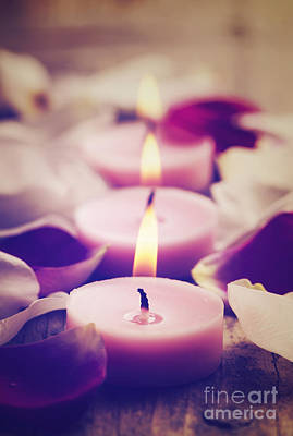 Spa Candles Print by Jelena Jovanovic