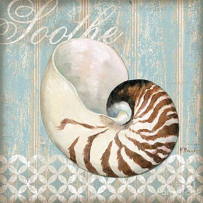 Sand Dollar Painting - Spa Shells I by Paul Brent
