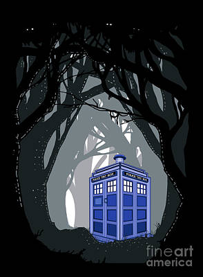 Fandom Digital Art - Space And Time Traveller Box Lost In The Woods by Three Second