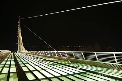 Space Bridge - The Unique Sundial Bridge In Redding California. Print by Jamie Pham