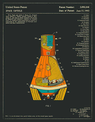 Space Capsule Print by Jazzberry Blue