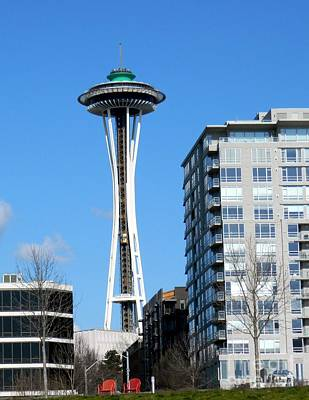 Neurotic Images Photograph - Space Needle by Chalet Roome-Rigdon
