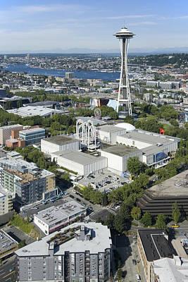 Photograph - Space Needle Landmark, Seattle Center by Andrew Buchanan/SLP