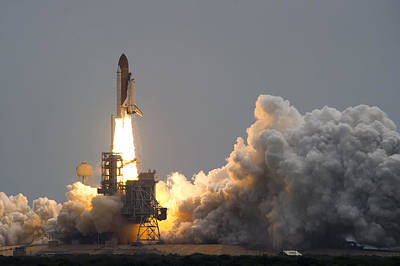 Space Shuttle Atlantis Print by Mountain Dreams