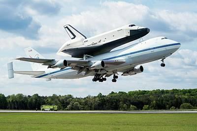 Space Shuttle Enterprise Piggyback Flight Print by Nasa/smithsonian Institution/mark Avino