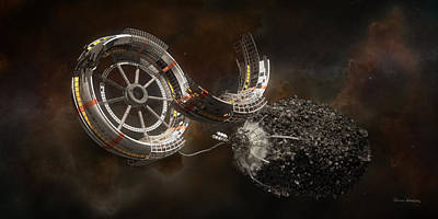 Science Fiction Mixed Media - Space Station Construction by Bryan Versteeg