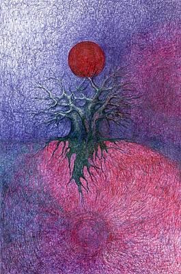 Space Tree Print by Wojtek Kowalski