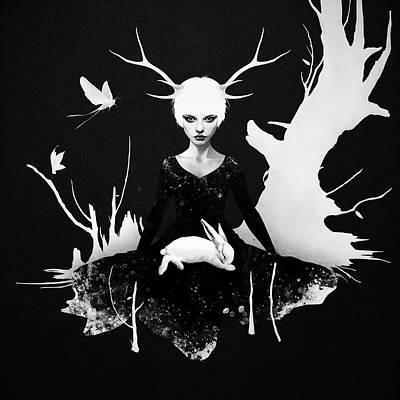 Rabbit Mixed Media - Space Within by Ruben Ireland