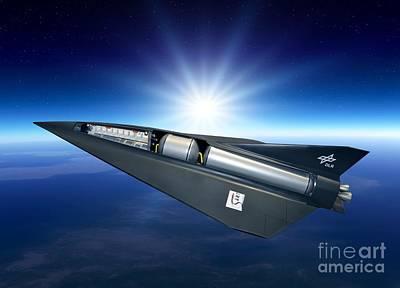 Passenger Plane Photograph - Spaceliner Transport, Artwork by Detlev Van Ravenswaay