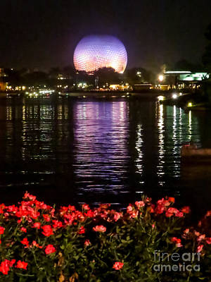 Iphone Case Photograph - Spaceship Earth At Night II by Zina Stromberg