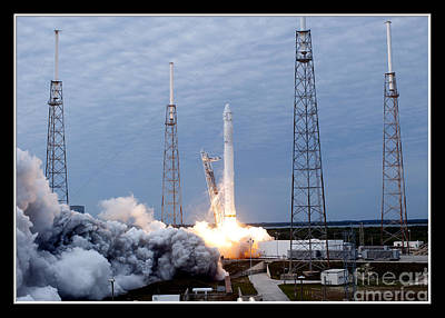 Roses Photograph - Spacex-2 Mission Launch Nasa by Rose Santuci-Sofranko