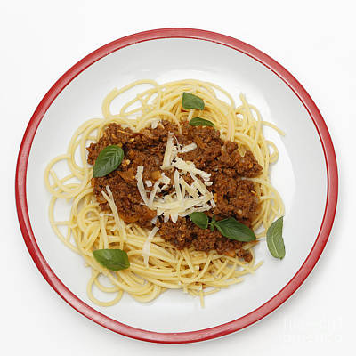Spaghetti Bolognese From Above Print by Paul Cowan