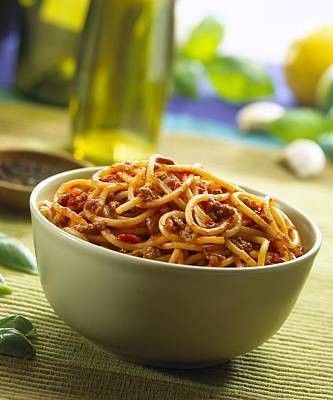 Spaghetti Bolognese Print by Science Photo Library