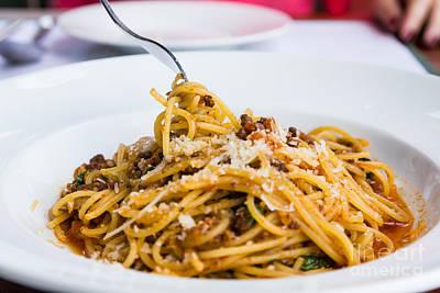 Spaghetti Noodles Print by Tosporn Preede