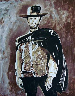 Poncho Painting - Spaghetti Western by Jeremy Moore