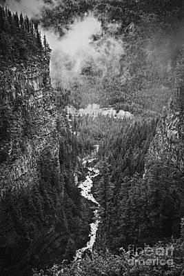 Fog Photograph - Spahats Creek Canyon In Wells Gray Provincial Park by Elena Elisseeva