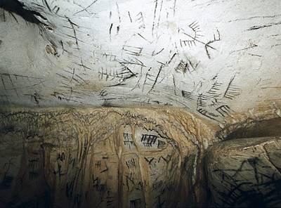 Spain. Benajo�n. La Pileta Cave Print by Everett