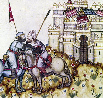 Knights Castle Painting - Spain Christian & Muslim by Granger