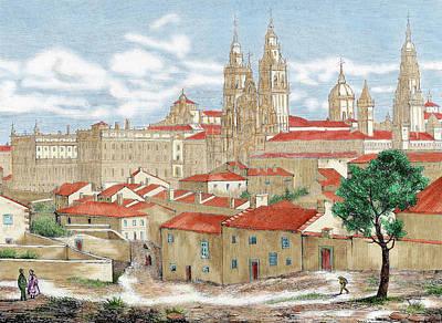 Spain Galicia Santiago De Compostela Print by Prisma Archivo