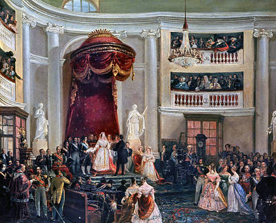 Swearing In Painting - Spain Isabel II, 1843 by Granger