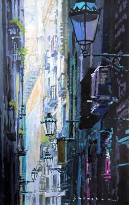 Barcelona Painting - Spain Series 06 Barcelona by Yuriy Shevchuk
