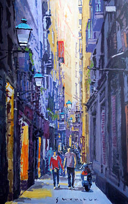 Perspective Painting - Spain Series 10 Barcelona by Yuriy Shevchuk