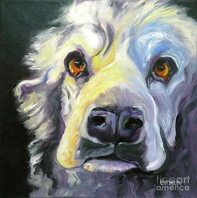 Oil Drawing - Spaniel In Thought by Susan A Becker