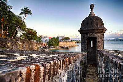 San Juan Spanish Caribbean Print by George Oze