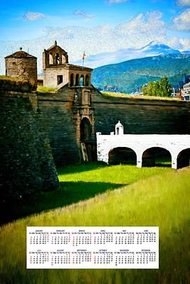 Mountain Painting - Spanish Castle 2014 Calendar by Bruce Nutting