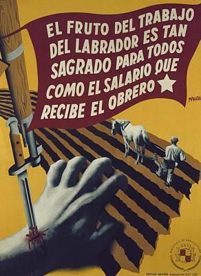 Spanish Civil War 1936-1939. El Fruto Print by Everett