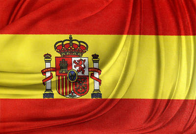 Spanish Flag Print by Les Cunliffe