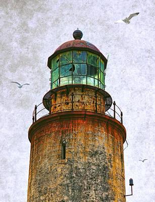 Navigation Mixed Media - Spanish Lighthouse by Daniel Hagerman