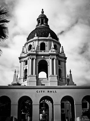 Spanish Style Dome On Pasadena City Hall Building Print by Laura Palmer