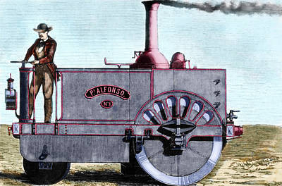Steam Tractor Photograph - Spanish Traction Engine 'alfonso' by Prisma Archivo