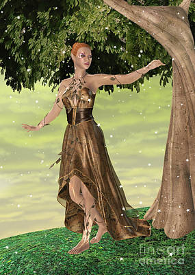 Digital Art - Sparkling Elf by Design Windmill