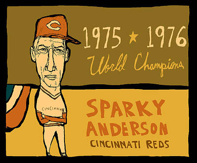 Sparky Anderson II Print by Jay Perkins
