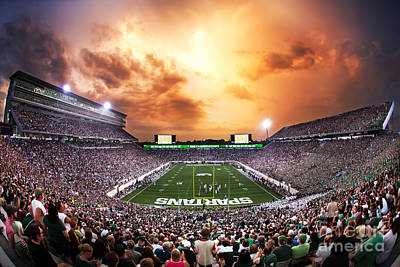 Michigan State Photograph - Spartan Stadium by Rey Del Rio