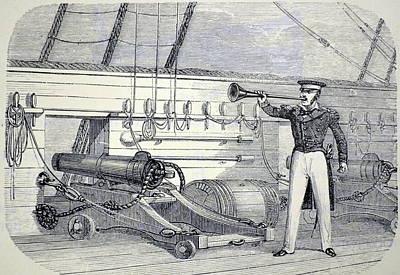 Speaking Trumpet Print by Universal History Archive/uig