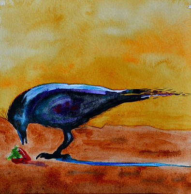 Yellow Beak Painting - Special Treat by Beverley Harper Tinsley