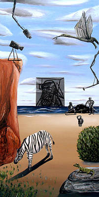 Darwin Painting - Species Differentiation -darwinian Broadcast- by Ryan Demaree