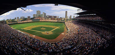 Spectators In A Stadium, Wrigley Field Print by Panoramic Images