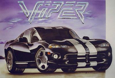 Viper Mixed Media - Speed At A Standstill by Thomas J Herring
