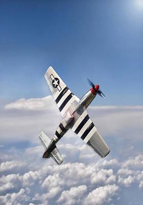 P.d Digital Art - Speed Climb P-51 by Peter Chilelli