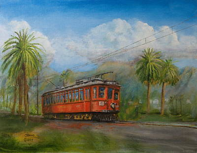 Train Painting - Speed Comfort Safety by Christopher Jenkins