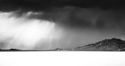 Speed Of Light- Bonneville Salt Flats Print by Holly Martin