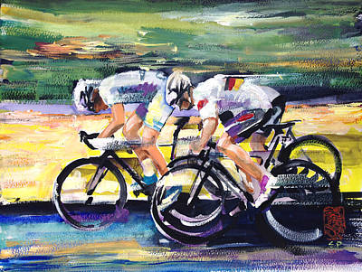 Cycles Painting - Speed Of Light by Shirley  Peters